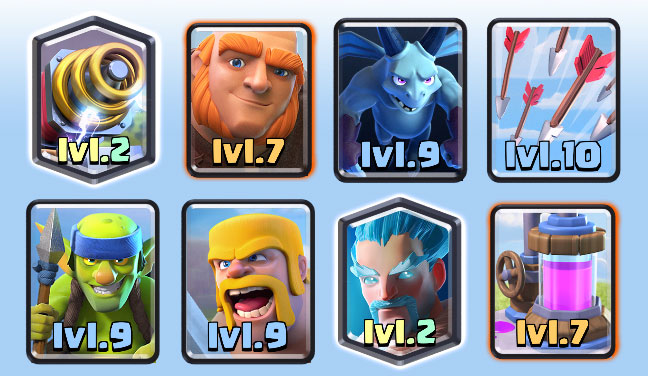 Best clash royale deck arena 6 7 8 updated for Deck arene 6 miroir