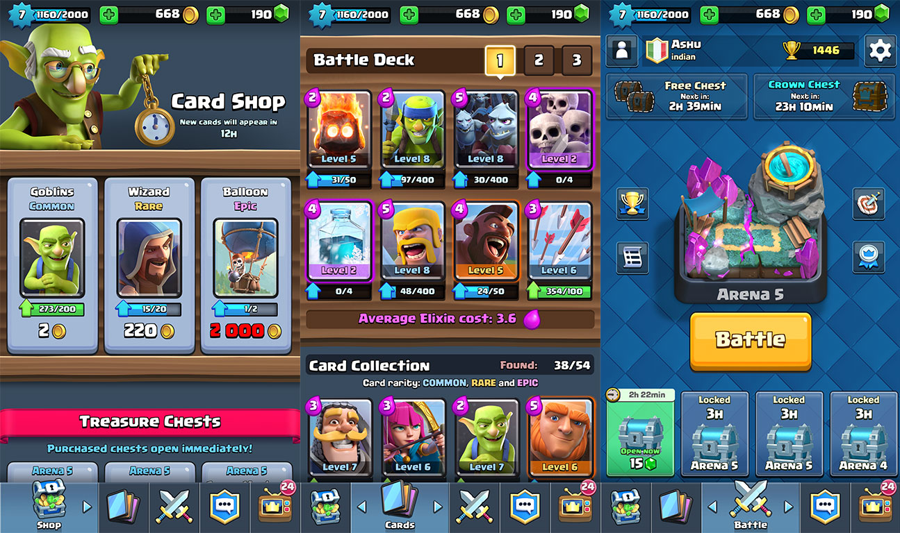 clash royale update cost