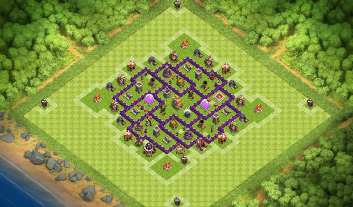 Town Hall 7 Home Base Design Part - 46: ... Farming-base-2-coc