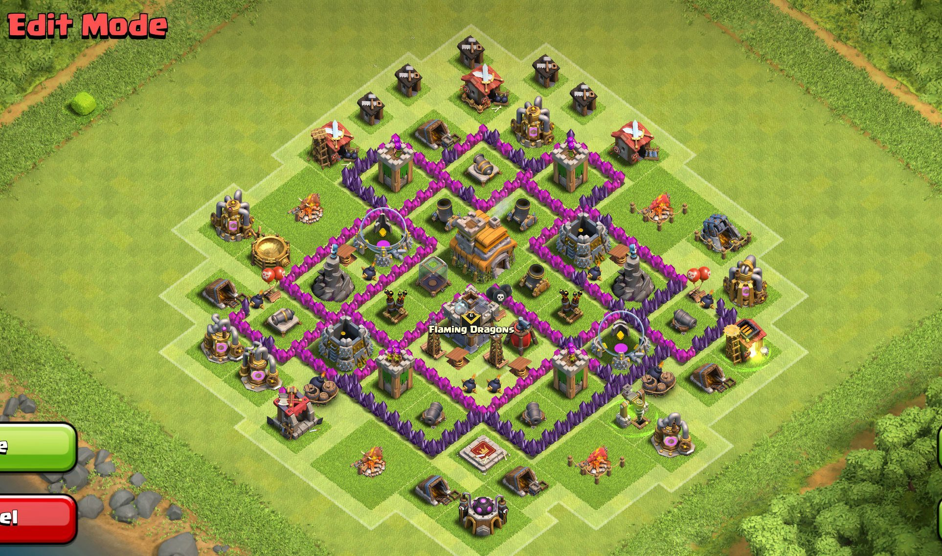 Best base for town hall 7 clash of clans th7 coc best base