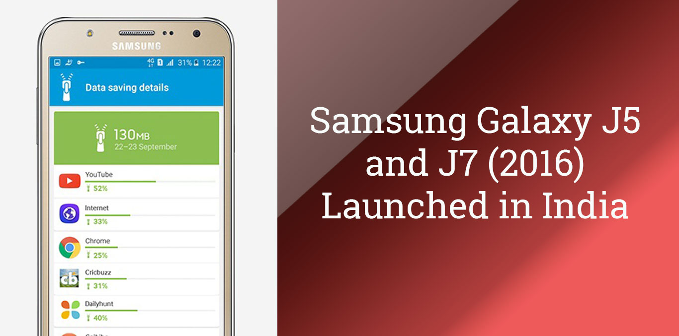 Samsung Galaxy J5 And J7 (2016) Launched In India